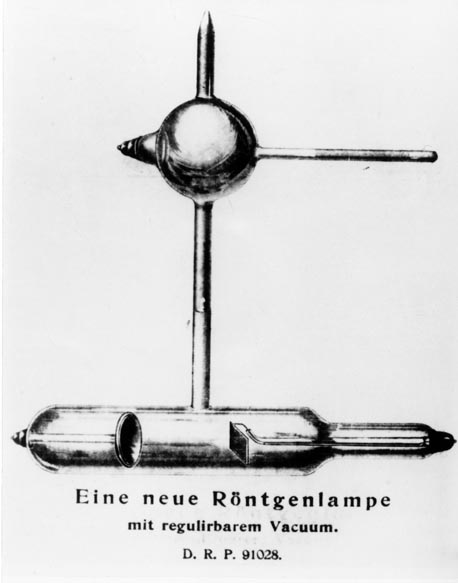 The first Siemens x-ray tube with regulated vacuum patented