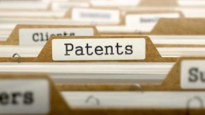 Card index showing patents label for patentability search