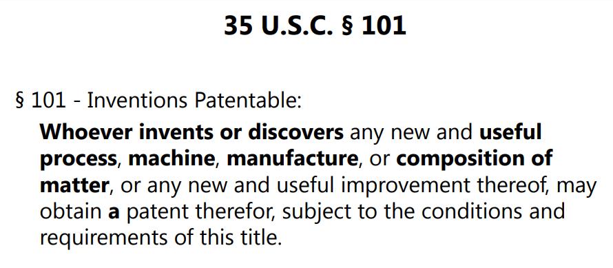 35 U. S.C. 101